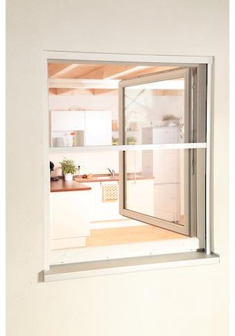 hecht international Insektenschutz-Rollo »SMART«, für Fenster, weiß/anthrazit, BxH: 160x160 cm kaufen