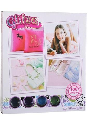 Knorrtoys® Kreativset »GLITZA Simply Girly«, (Set), Für alle Oberflächen geeignet kaufen