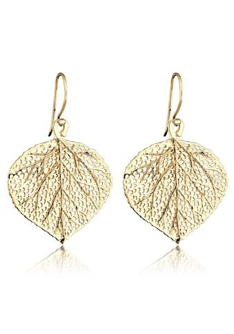 Elli Paar Ohrhänger »Blatt Natur Blätter Baum 925 Silber vergoldet« kaufen