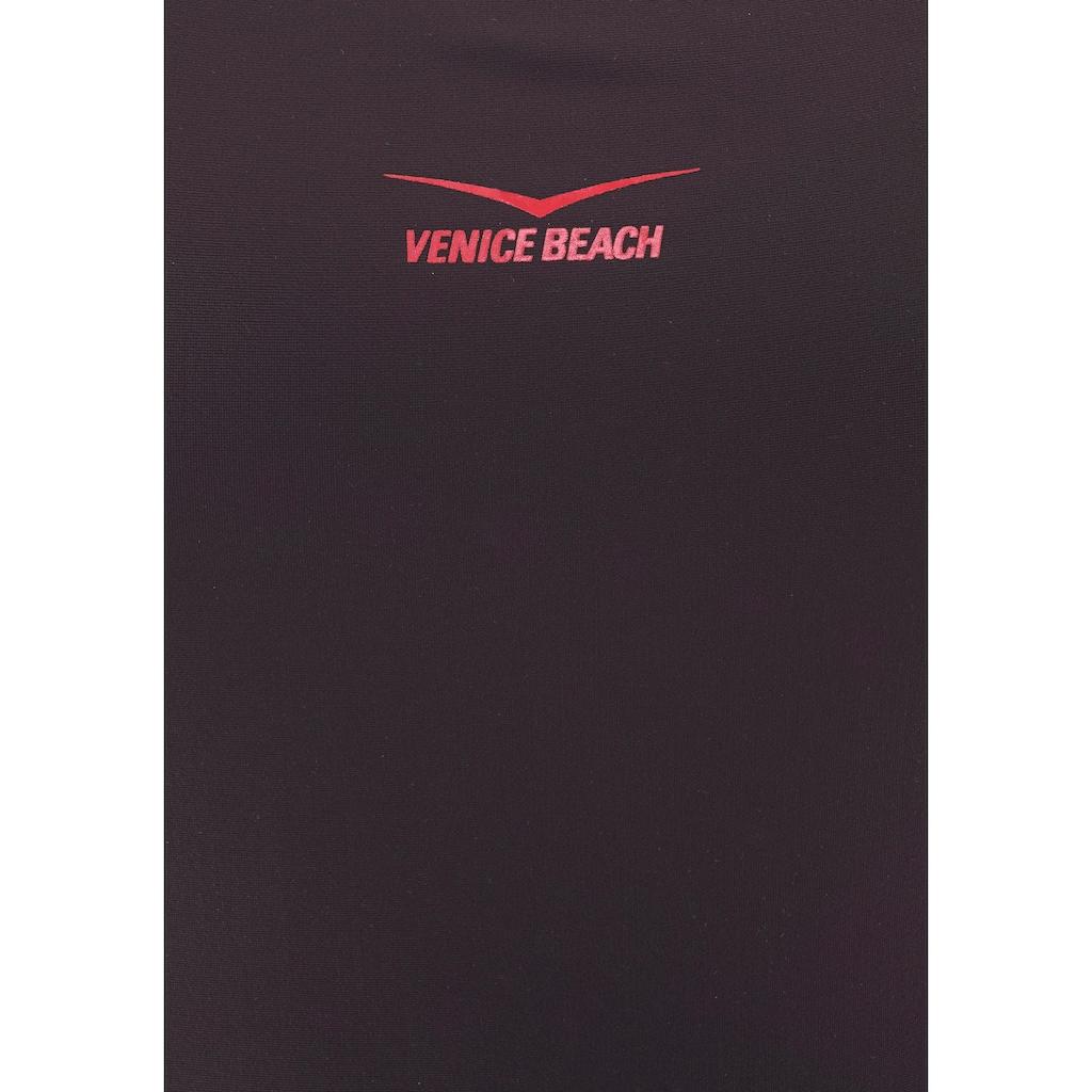 Venice Beach Badeanzug, mit Kontrasteinsätzen