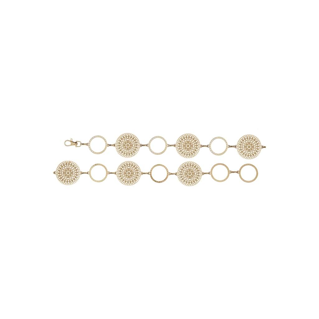 LASCANA Kettengürtel, Taillengürtel mit Ornamenten und verstellbarer Schließe
