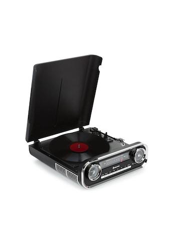Auna Plattenspieler Bluetooth UKW - Radio USB schwarz »Challenger LP« kaufen