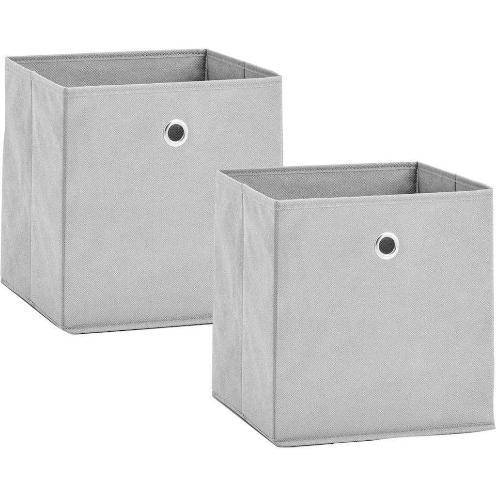 Zeller Present Aufbewahrungsbox, (Set, 2 St.), faltbar und schnell verstaut