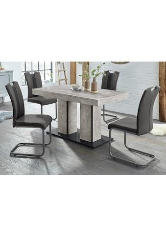 HELA Essgruppe »ROSE«, (Set, 5 tlg.), bestehend aus einem Tisch 140-180 cm und 4 Stühlen kaufen