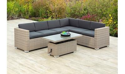 MERXX Gartenmöbelset »Bellante«, (2 tlg.), Eckbank und höhenverstellbarer Tisch, mudbraun kaufen