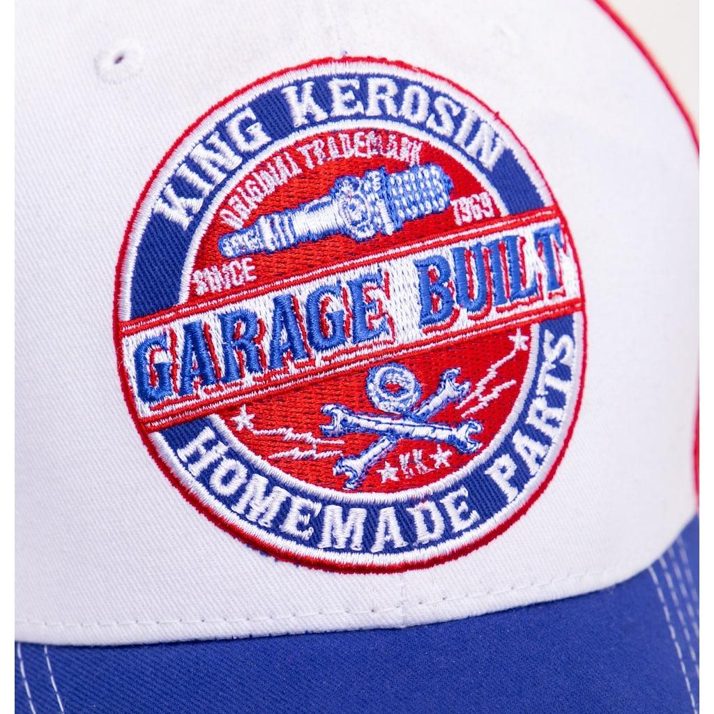 KingKerosin Baseball Cap »Garage Built«, in Colour-Blocking Optik