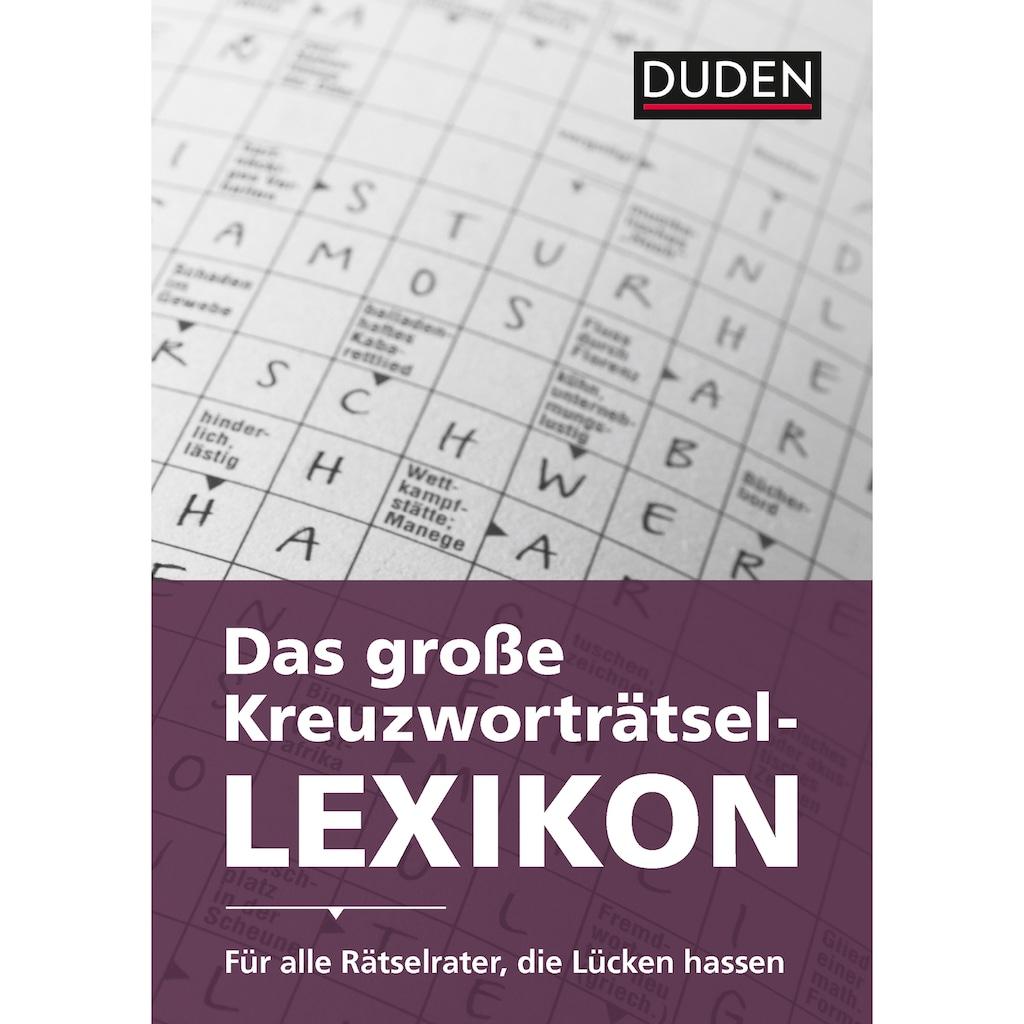 Buch »Das große Kreuzworträtsel-Lexikon / Dudenredaktion«