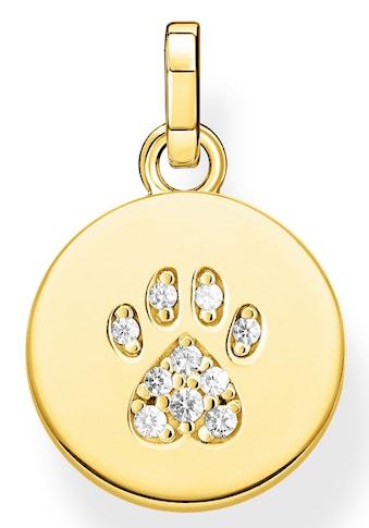 THOMAS SABO Kettenanhänger »Coin Pfote Katze gold, PE882 - 414 - 14« kaufen