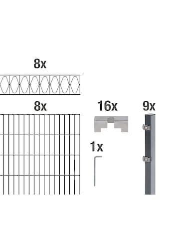 GAH Alberts Doppelstabmattenzaun »Eleganz«, anthrazit, 100 cm hoch, 8 Matten für 16 m, 9 Pfosten kaufen