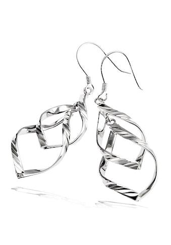 goldmaid Paar Ohrhänger 925 Sterlingsilber Raute mit Muster kaufen