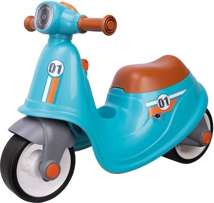 blaues Laufrad in Moped-Optik