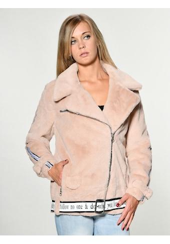 Maze Fake Fur Jacke mit asymmetrischem Reißverschluss kaufen