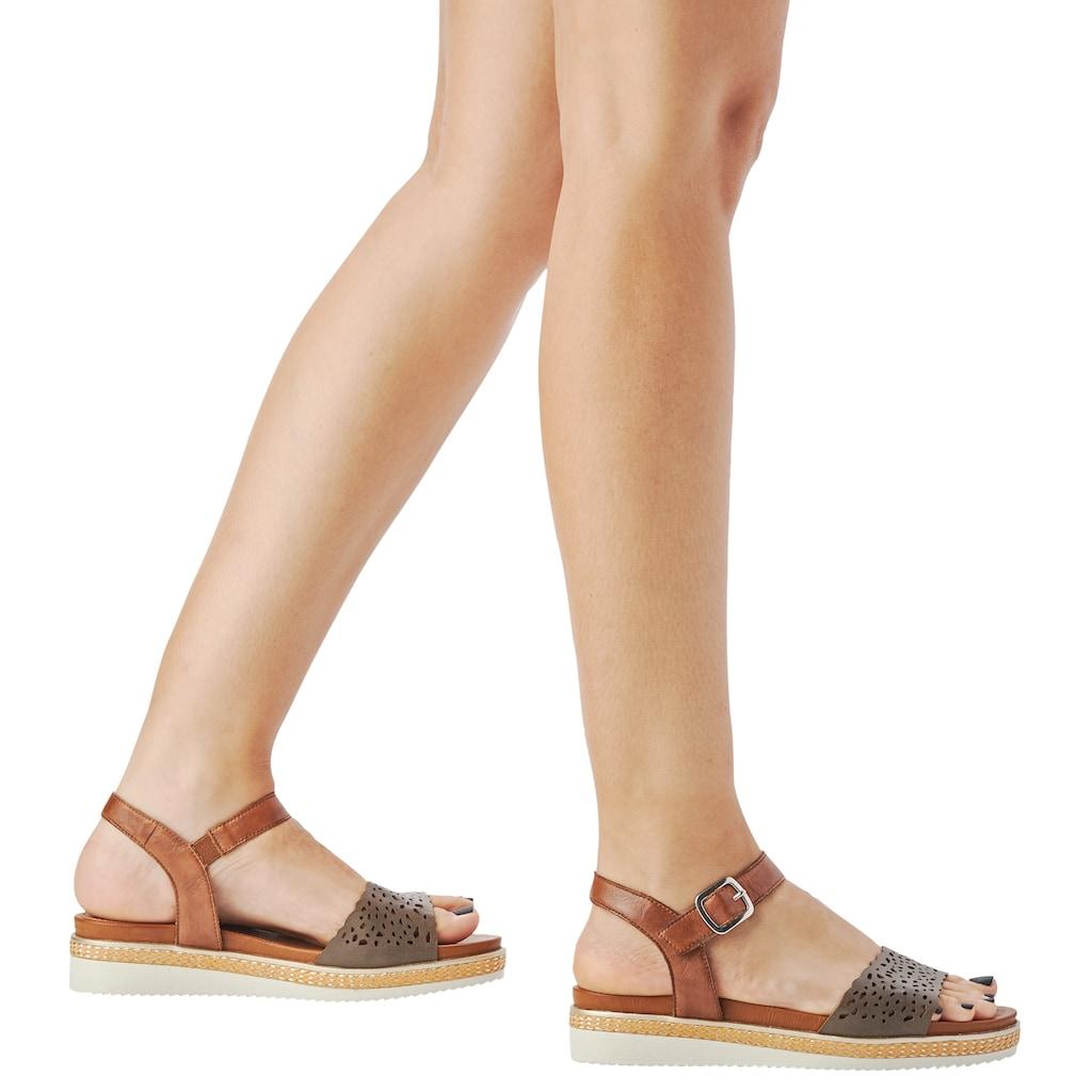Remonte Sandalette, mit feinem Laser-Muster
