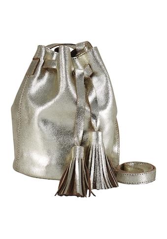 Tasche in Beutelform mit Quasten kaufen