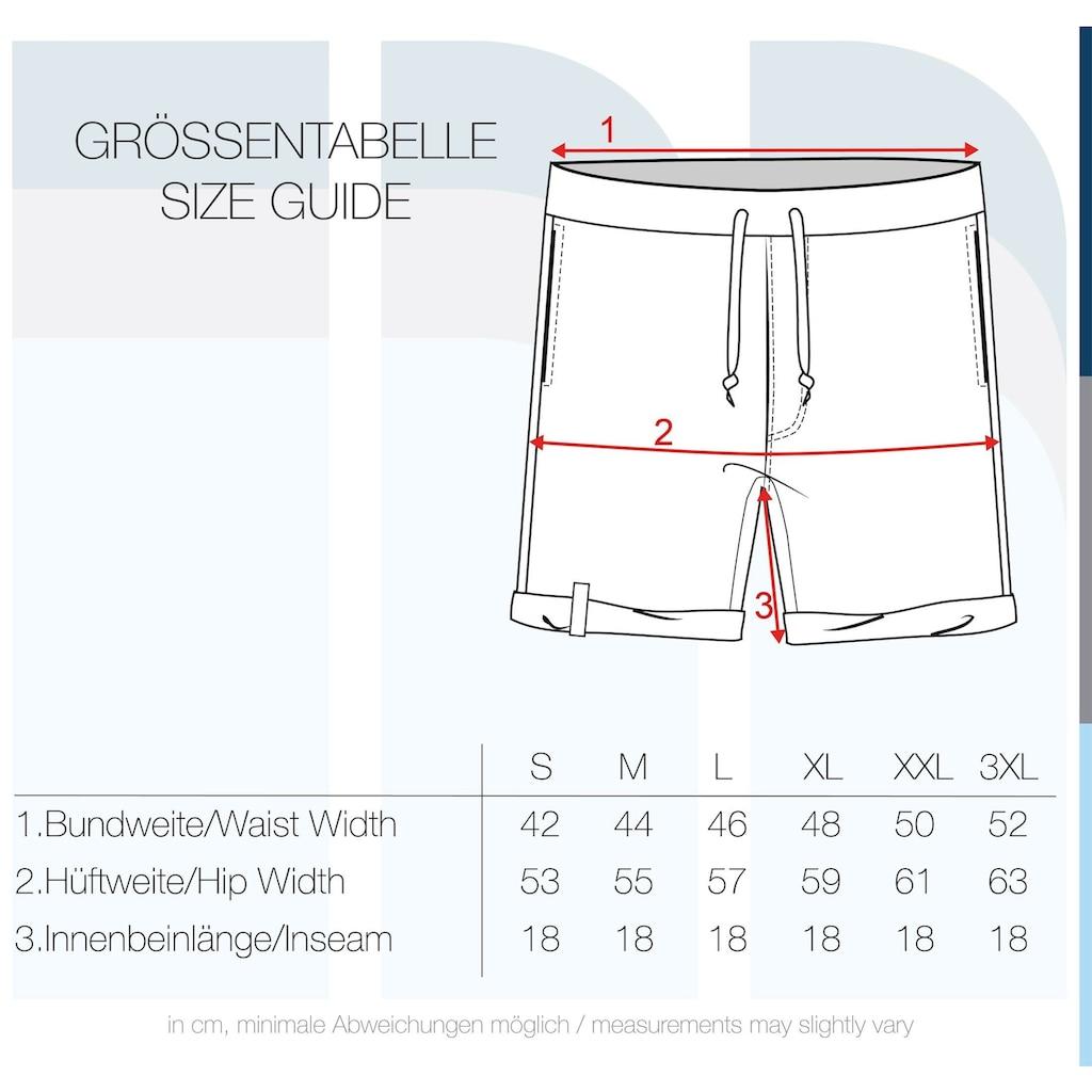 Indicode Sweatshorts »Ian«, kurze Hose mit Gesäßtasche im Inka-Look
