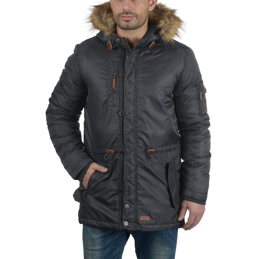Blend Parka »Eugen«, warme Jacke mit abnehmbarem Kunstfellkragen