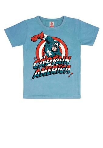 LOGOSHIRT T-Shirt »Captain America«, mit lizenziertem Originaldesign kaufen