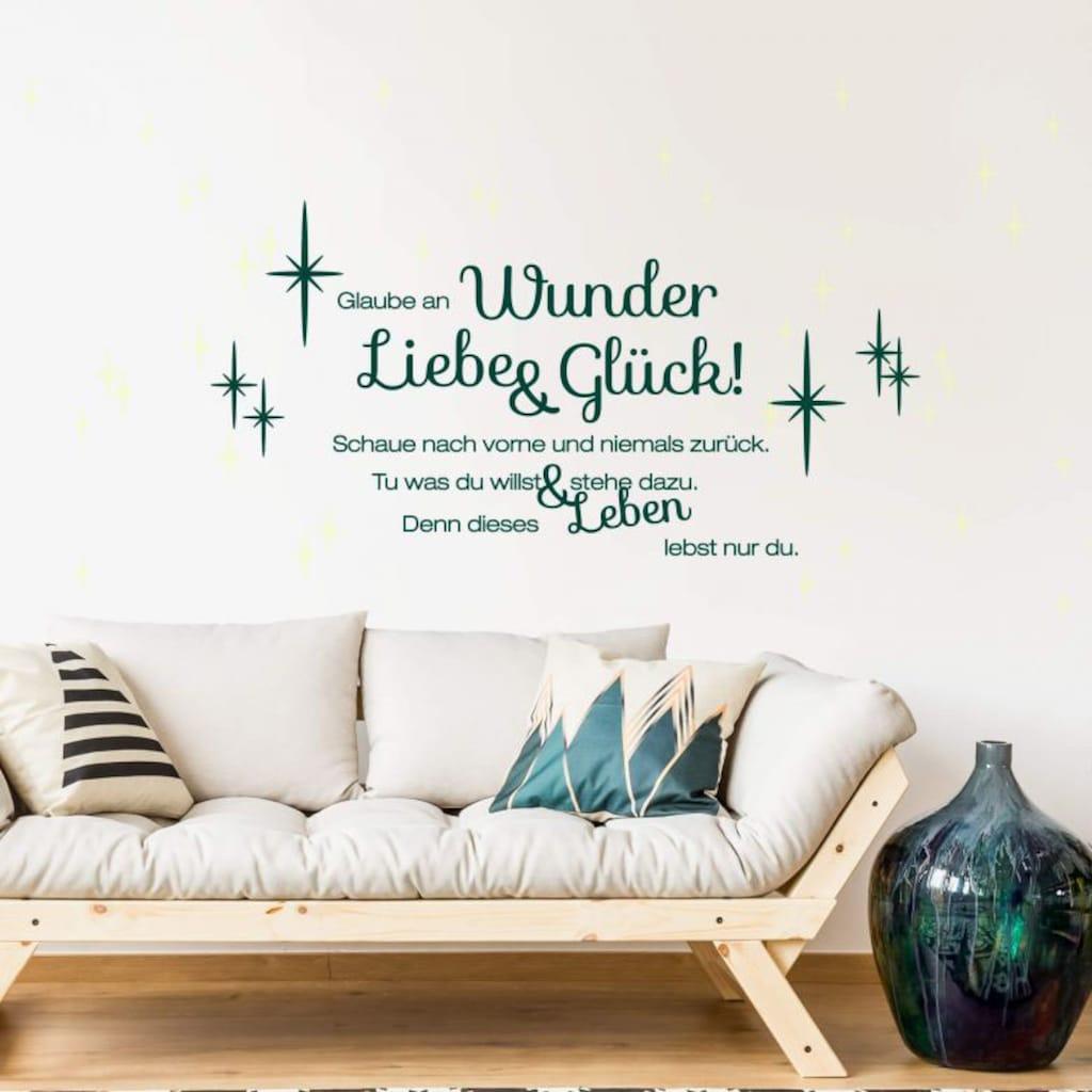 Wall-Art Wandtattoo »Liebe und Glück Leuchtbild«