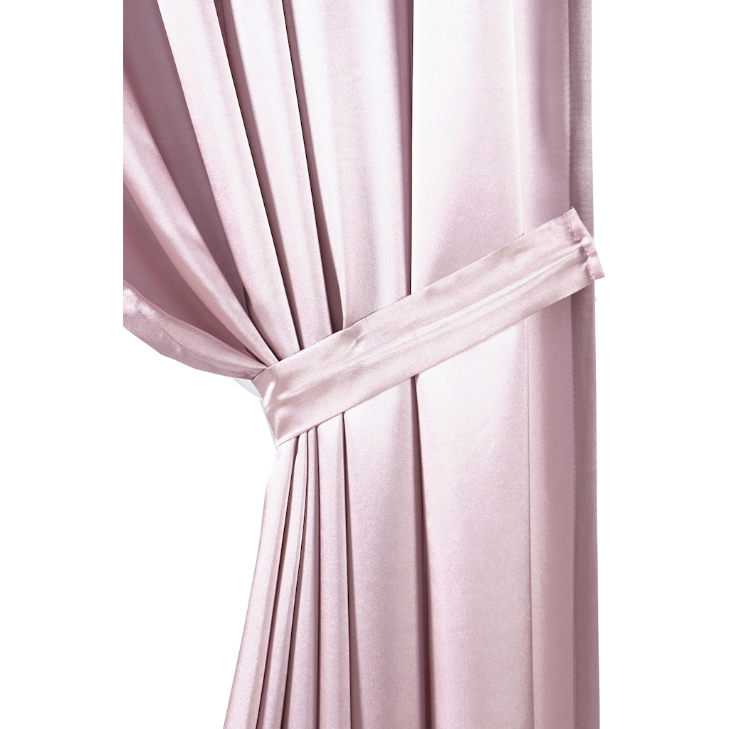 DELAVITA Vorhang »Glanzsatin«, Inklusive Raffhalter