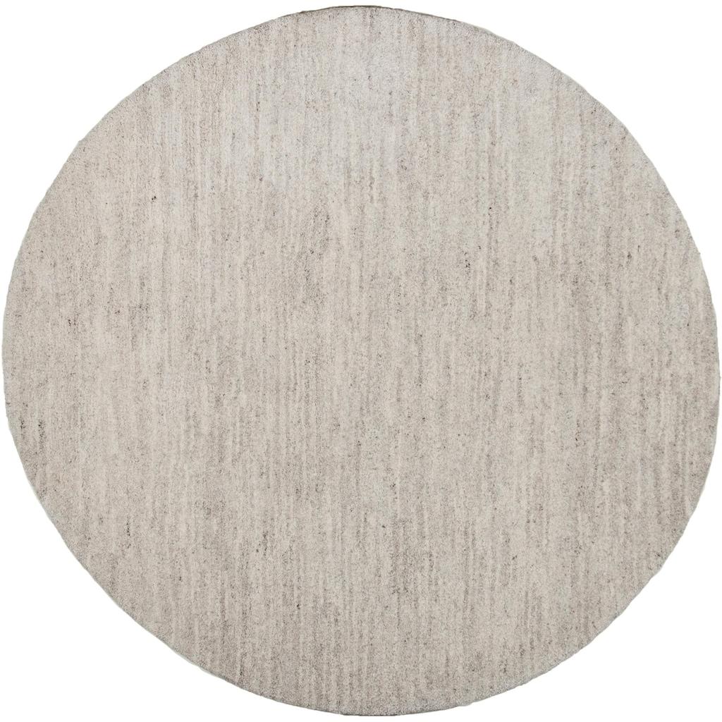 THEKO Wollteppich »Amravati«, rund, 28 mm Höhe, reine Wolle, echter Berber, handgeknüpft, Wohnzimmer