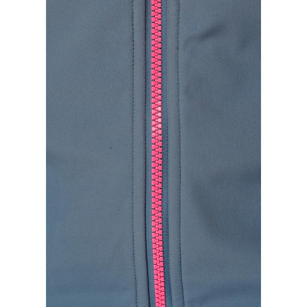 Ocean Sportswear Softshelljacke, mit Kontrastdetails