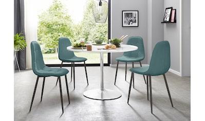 Essgruppe, (Set, 5 tlg.), mit rundem Tisch in weiß Hochglanz kaufen
