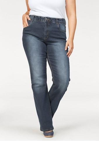 Arizona Bootcut - Jeans »Svenja  -  Bund mit seitlichem Gummizugeinsatz« kaufen