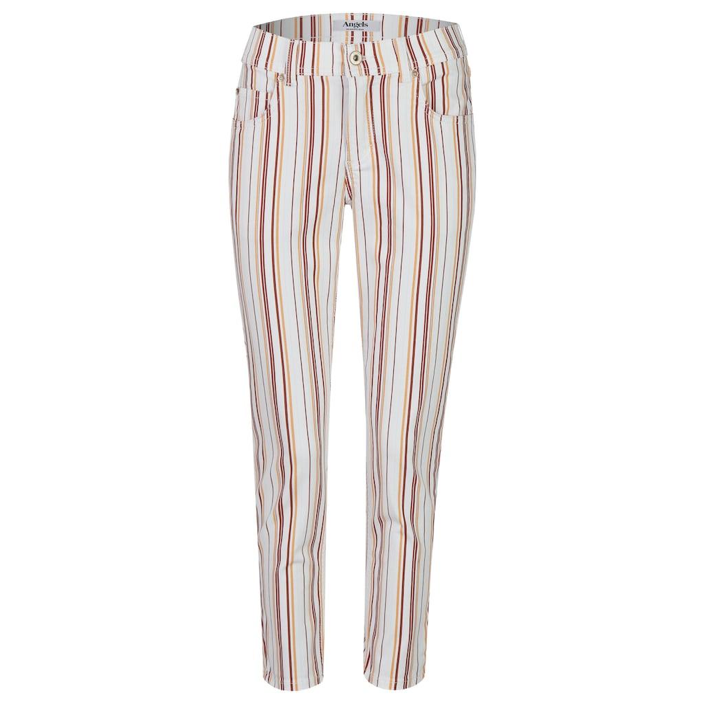 ANGELS 7/8-Jeans, 'Ornella' mit gestreiften, bunten Details