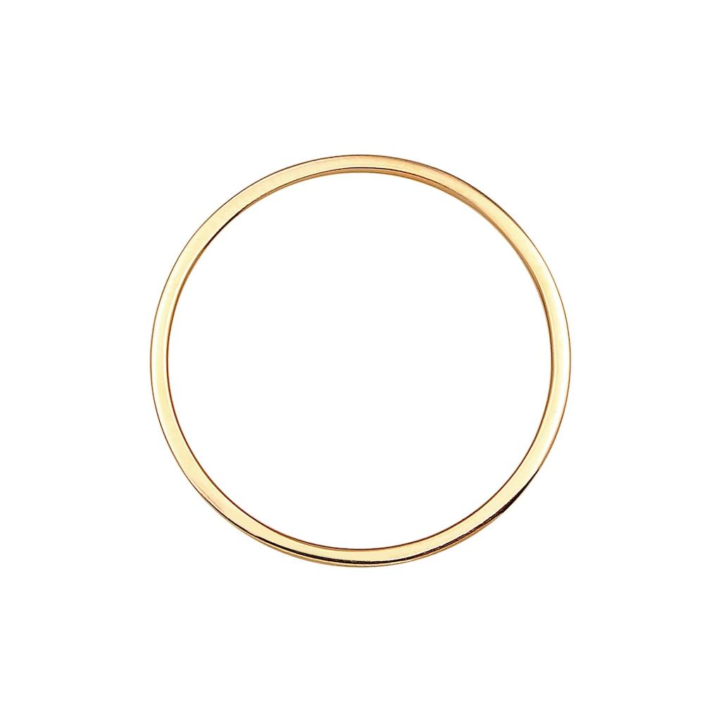 Elli Fingerring »Paarring Bandring Trauring Hochzeit Ehe 925 Silber«
