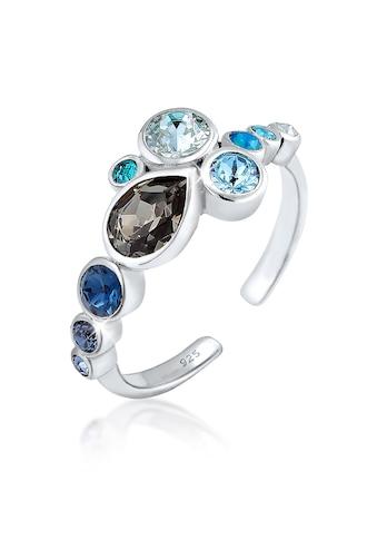 Elli Fingerring »Bezelring Kristalle 925 Sterling Silber« kaufen