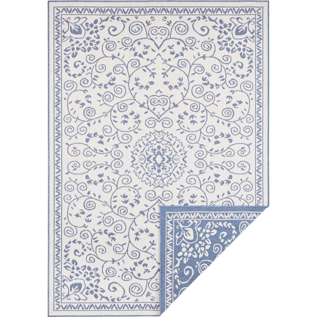 bougari Teppich »LEYTE«, rechteckig, 5 mm Höhe, In- und Outdoor geeignet, Wendeteppich, Wohnzimmer