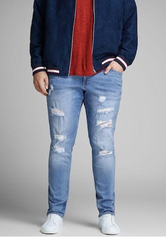 Jack & Jones Skinny-fit-Jeans »Liam«, bis Jeans Weite 48 kaufen