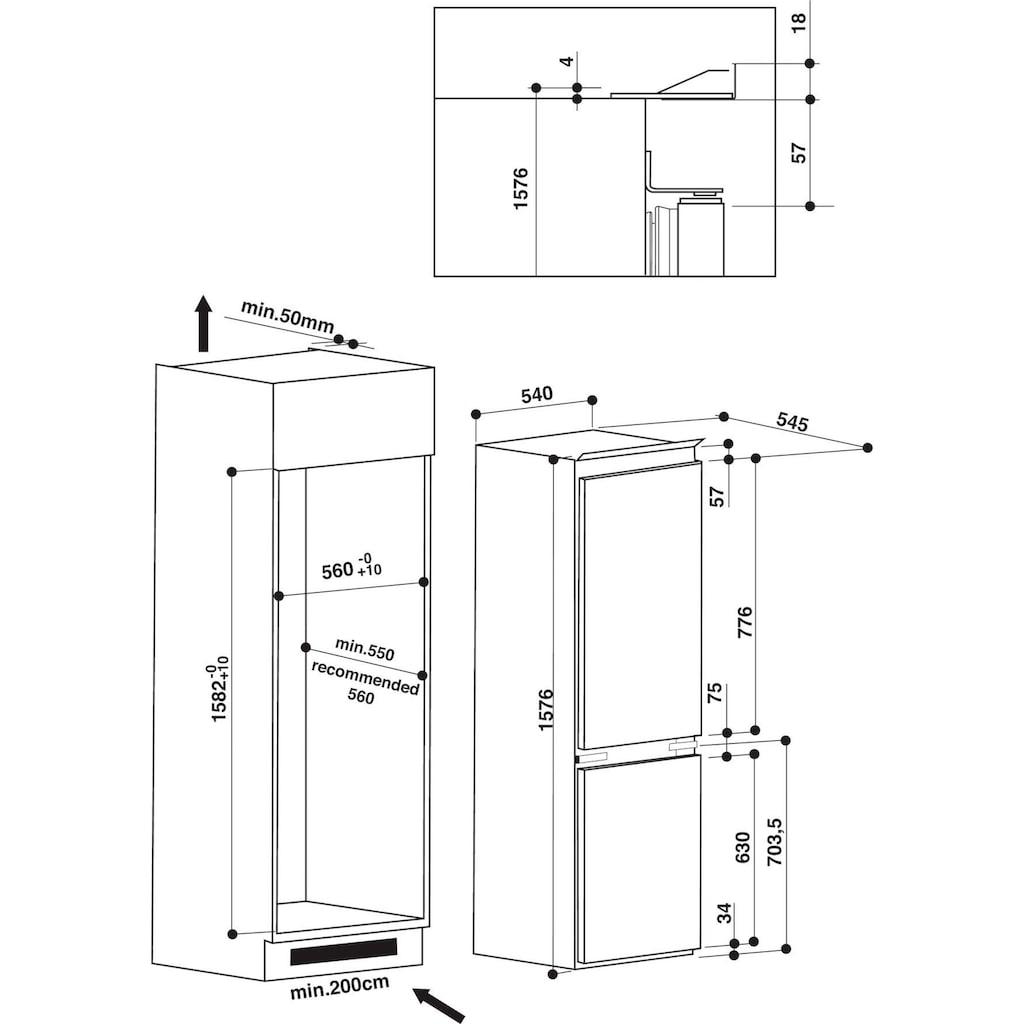 Privileg Einbaukühlgefrierkombination »PCI 16S1«