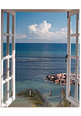 Artland Schlüsselbrett »Fenster zum Paradies« kaufen