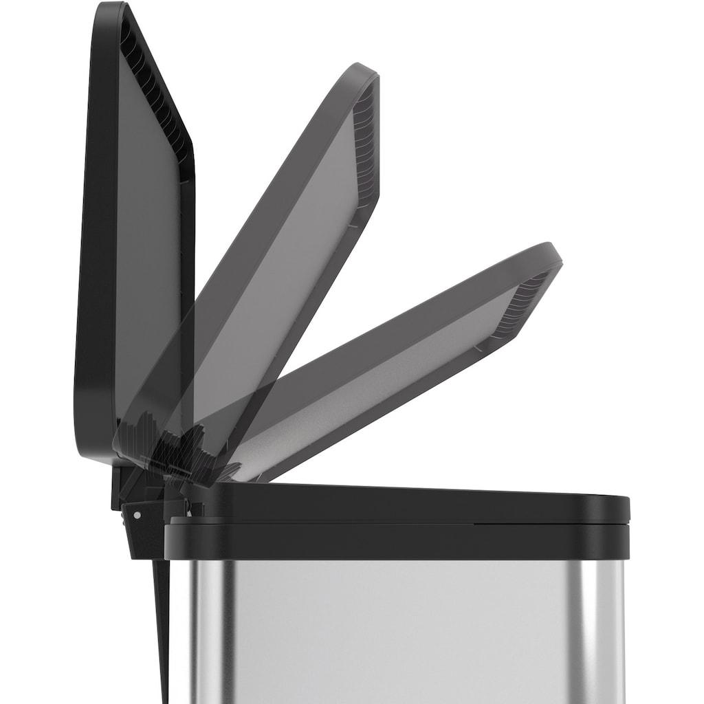 Hailo Mülleimer »Öko Duo Plus M«, weiß, Fassungsvermögen ca. 2x 9 Liter