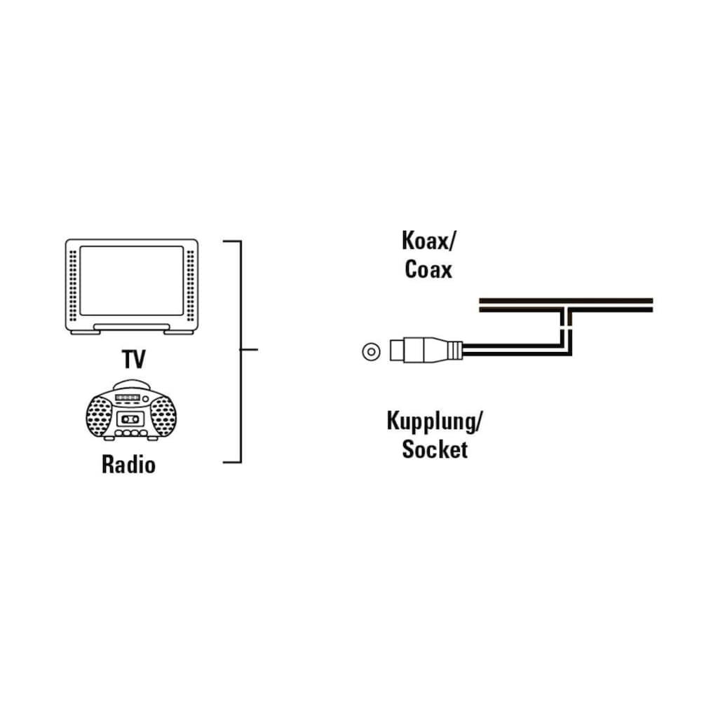Hama Wurfantenne (Dipol), Koax, TV/Radio Antenne