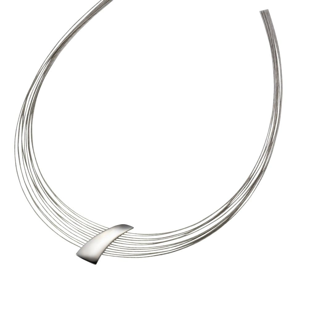 Vivance Collier »925/- Sterling Silber rhodiniert + Stahl«, mit Geschenketui