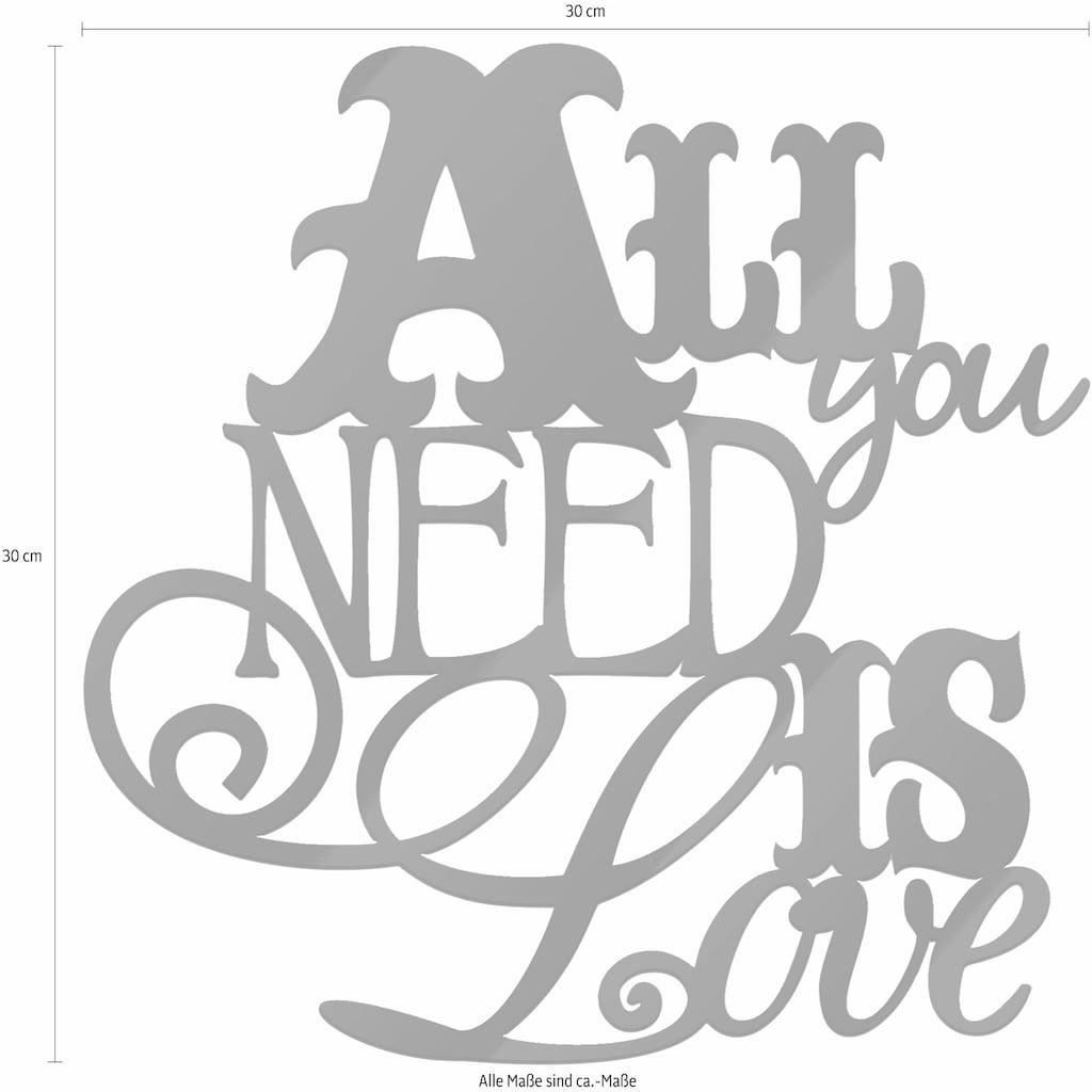 Wall-Art Wandbild »All you need is Love«, 30/30 cm