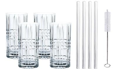 Nachtmann Longdrinkglas »Tastes Good«, (Set, 9 tlg.), (4x Longdrinkgläser, 4x... kaufen