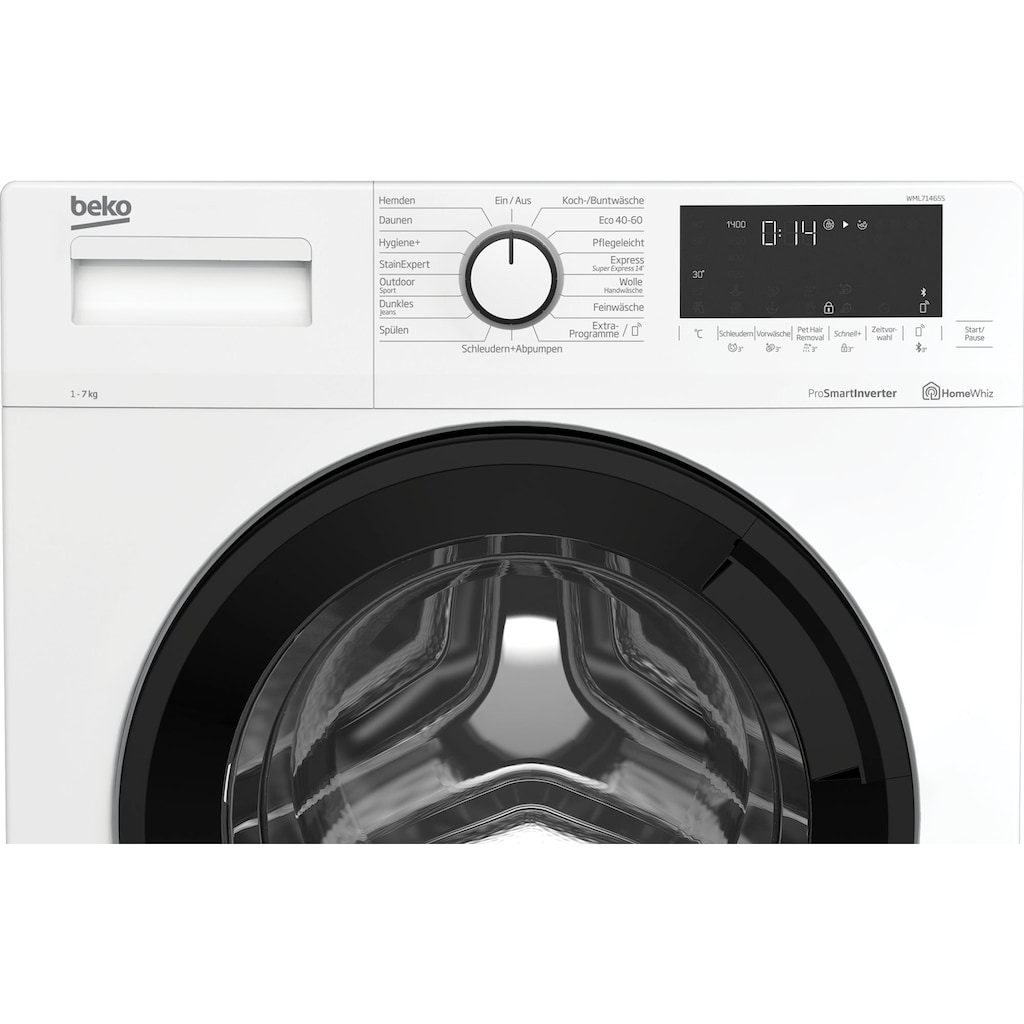 BEKO Waschmaschine »WML71465S«, WML71465S, 7 kg, 1400 U/min