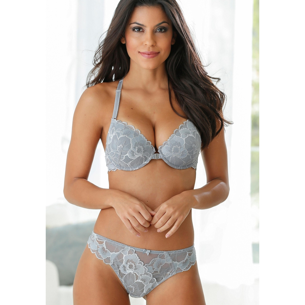 LASCANA Push-up-BH »Mably«, mit herausnehmbaren Kissen und Vorderverschluss
