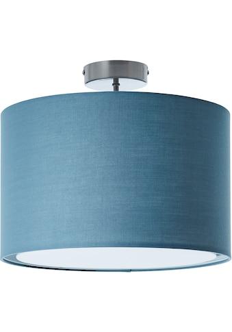 Lüttenhütt Deckenleuchte »Lüchte«, E27, Deckenlampe mit Stoffschirm blau / petrol, Ø 40 cm, Höhe 32 cm kaufen