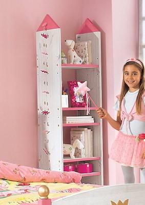 Kinderregal in Weiß Rosa