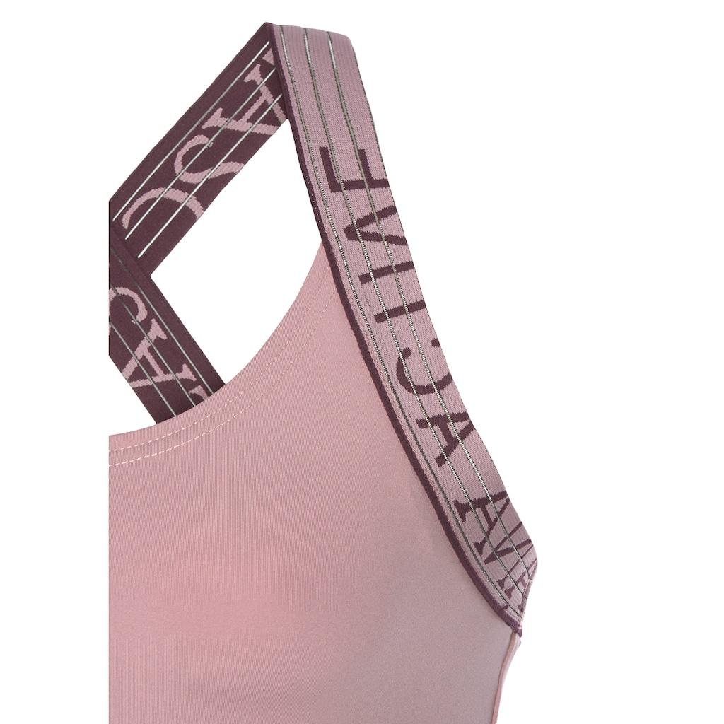 LASCANA ACTIVE Sporttop, mit Logotape Trägern