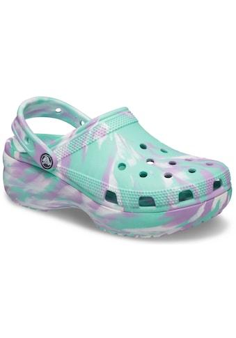 Crocs Clog »Classic Platform Marbled Clog«, mit pastellfarbenem Batikmuster kaufen