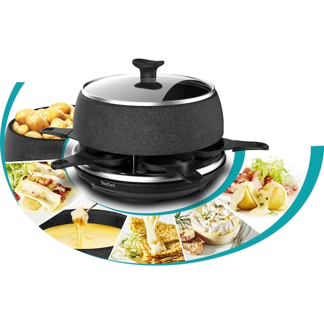 Tefal Raclette RE12C8 Fondue Cheese 'n Co, 6 Raclettepfännchen, 850 Watt