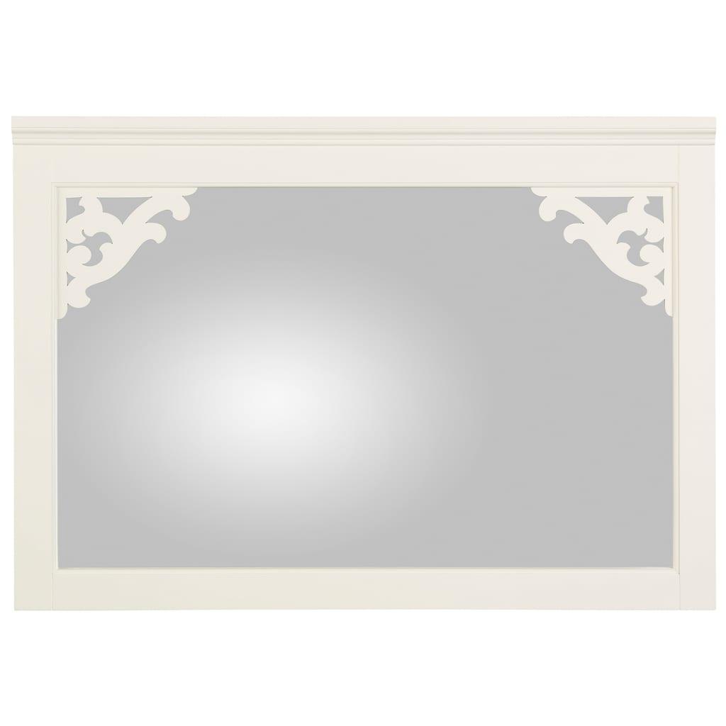Premium collection by Home affaire Spiegel »Arabeske«, mit schönen kleinen gefrästen Holzverzierungen auf den Spiegelecken, Breite 99 cm