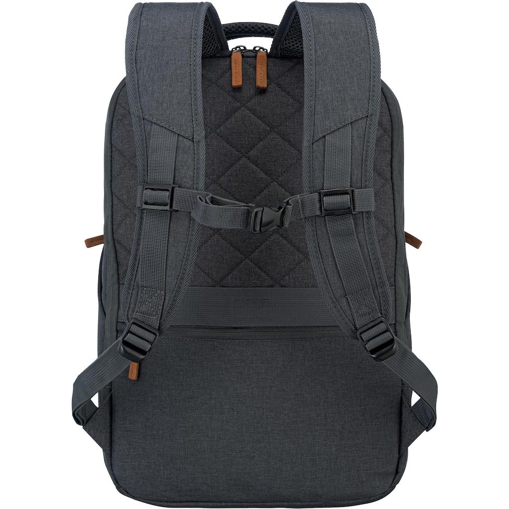 travelite Laptoprucksack »Basics Safety, Anthrazit«