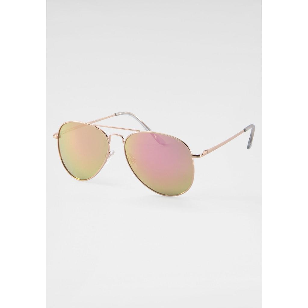 J.Jayz Sonnenbrille, Aviator Look, Gläser verspiegelt