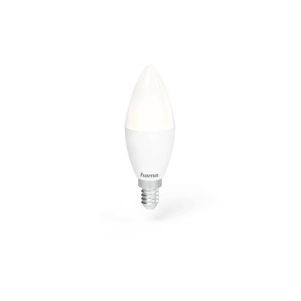 Hama Smarte LED-Leuchte »4,5W, dimmbar, kein Hub nötig«, Kerze, Alexa/Google/App gesteuert, E14, RGB
